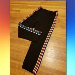 NWT VS PINK Rainbow Striped Cotton Crop Legging S